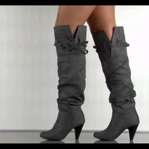 Gorgeous knee high grey boot